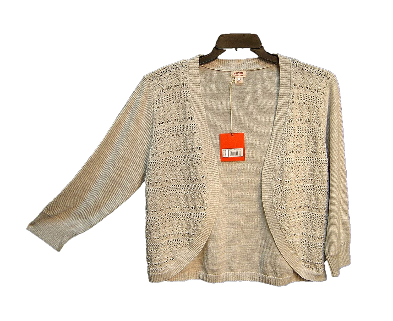 Mossimo Supply Co Gray 100 Cotton Open Frontweave Crochet Cardigan