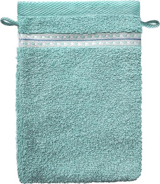 SANTENS Pirox - Juego de 2 Manoplas de baño, algodón, Lino, 2 x 1622: Amazon.es: Hogar