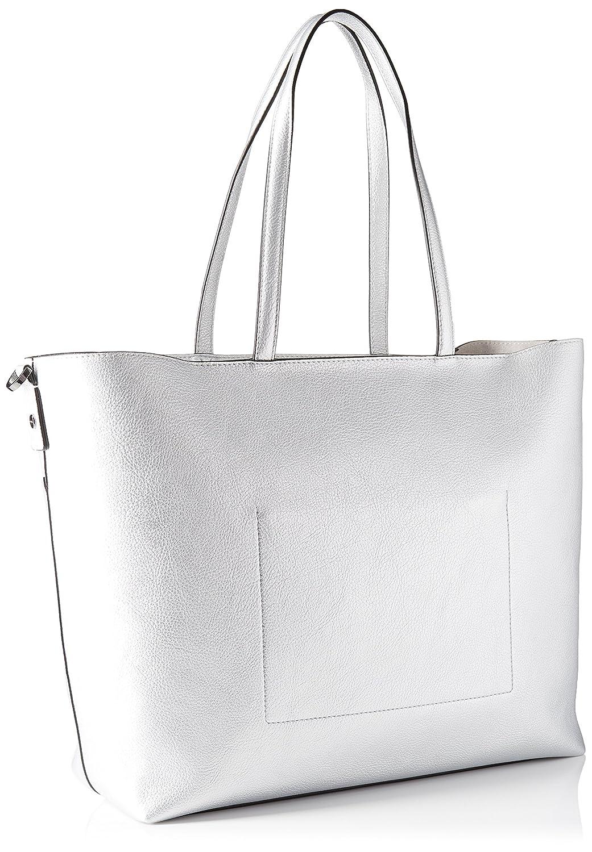 2cbb490303 Calvin Klein Luna Medium Tote Sta, 003, Os Borsa Donna, Argento (Silver)  15x35x32 cm (W x H x L): Amazon.it: Scarpe e borse
