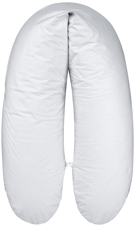 ARO Artländer 88163 Premium Stillkissen mit Perlenfüllung und Bezug - Länge 178 cm - grau