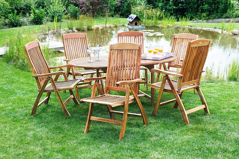 MERXX Gartenmöbel Gartensitzgruppen Cambridge 7-teilig