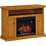 "ClassicFlame 23MM378-O103 Cannes TV Stand for TVs up to 50"", Antique Oak (Electric Fireplace Insert sold separately)"