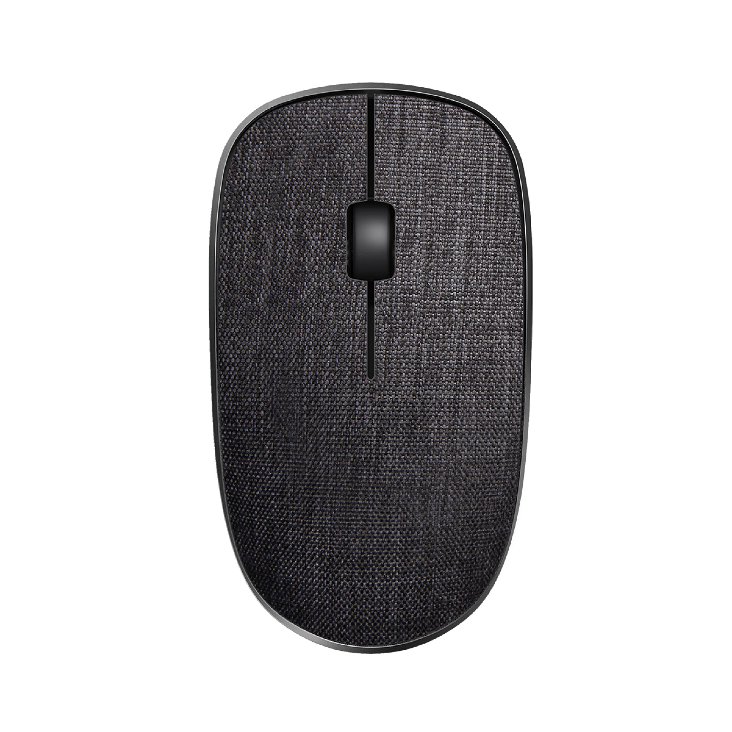 Rapoo Wireless Mouse Portable Fabric Cover Mouse 3510P for Notebook/PC/Laptop and Computer - BLACK