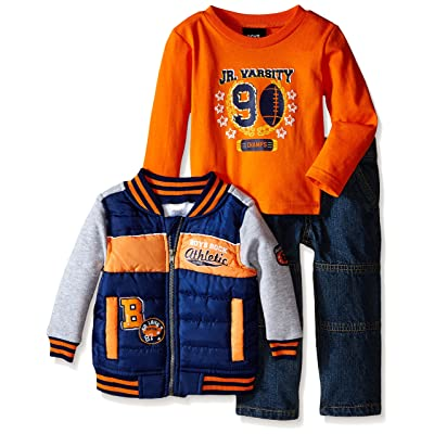 Boys' Rock Baby Boys' 3 Piece Jacket Set Varsity