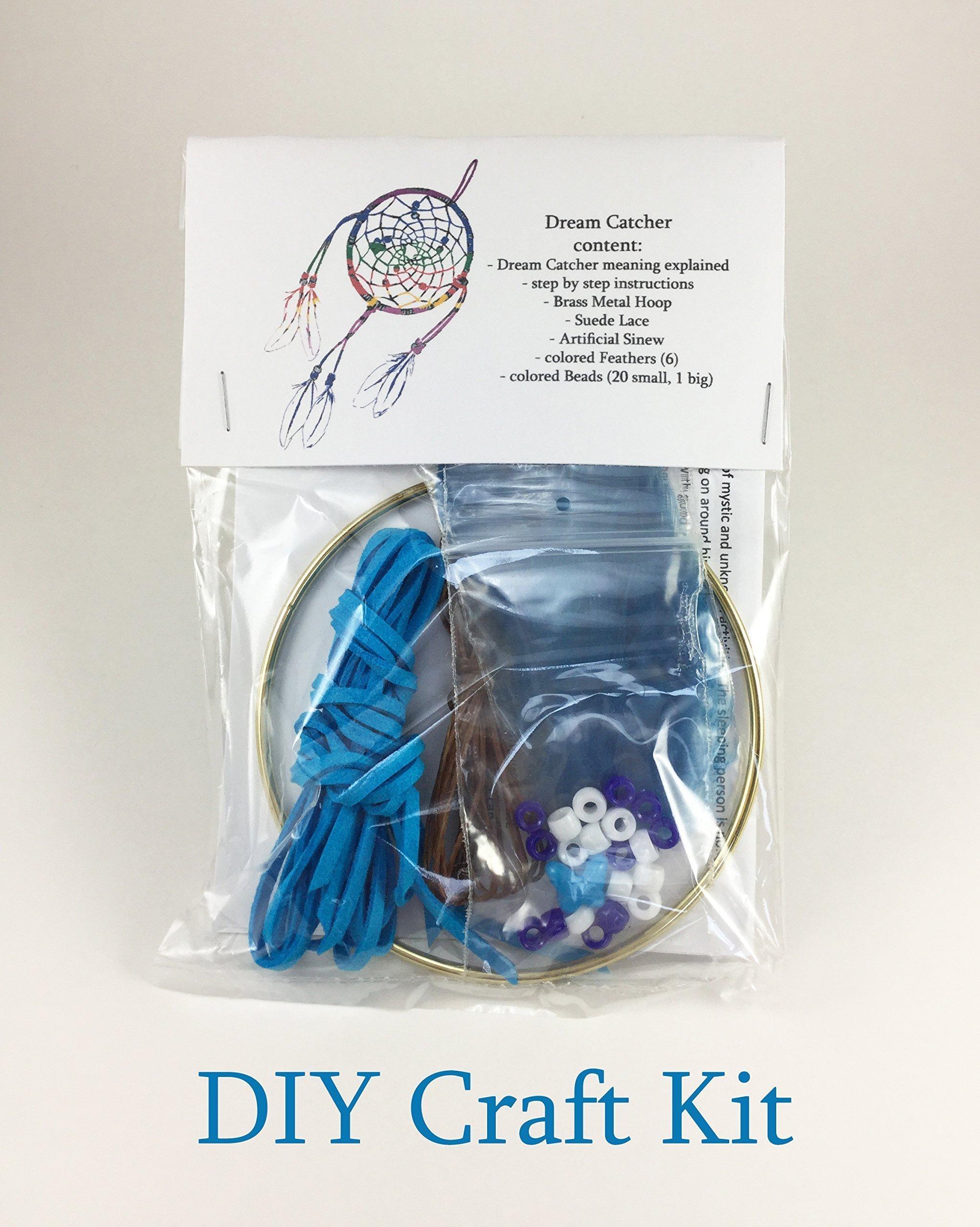 Blue Dream Catcher Craft kit, DIY Dream Catcher, children's craft kits, how to make a dream catcher