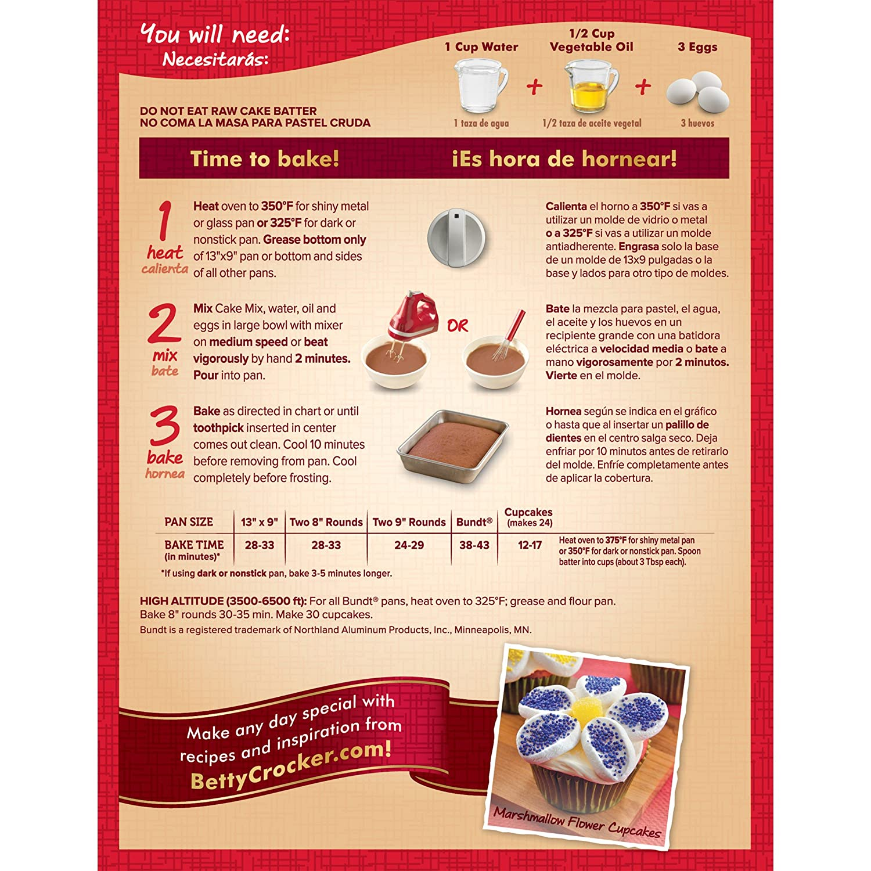 Amazon.com : PACK OF 27 - Betty Crocker Super Moist Cake Mix Spice 15.25 oz Box : Grocery & Gourmet Food