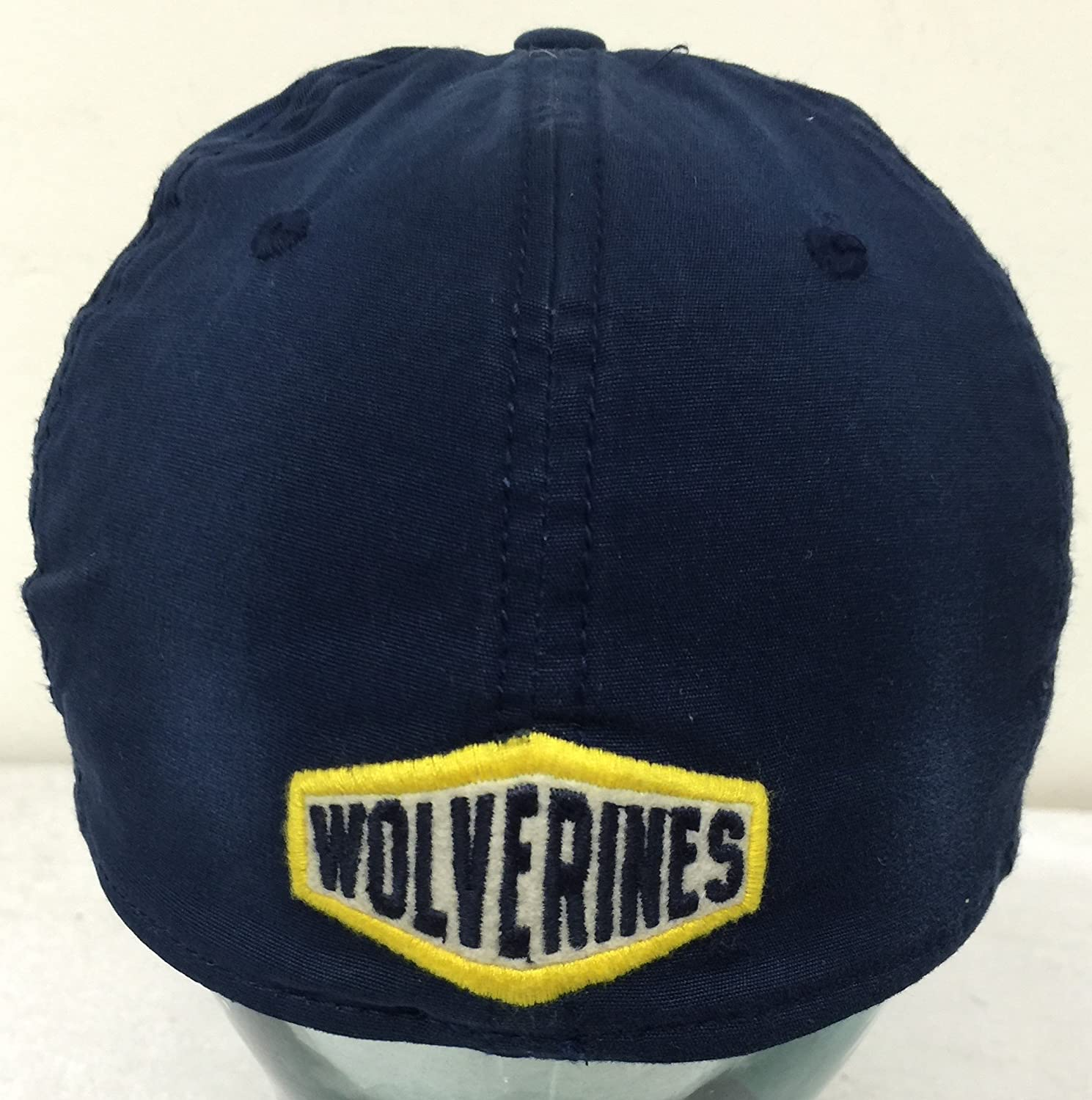 on sale 5297d d67ba Amazon.com   adidas Michigan Wolverines Distressed Navy Slouch Flex Hat Cap  Fitted S M   Sports   Outdoors