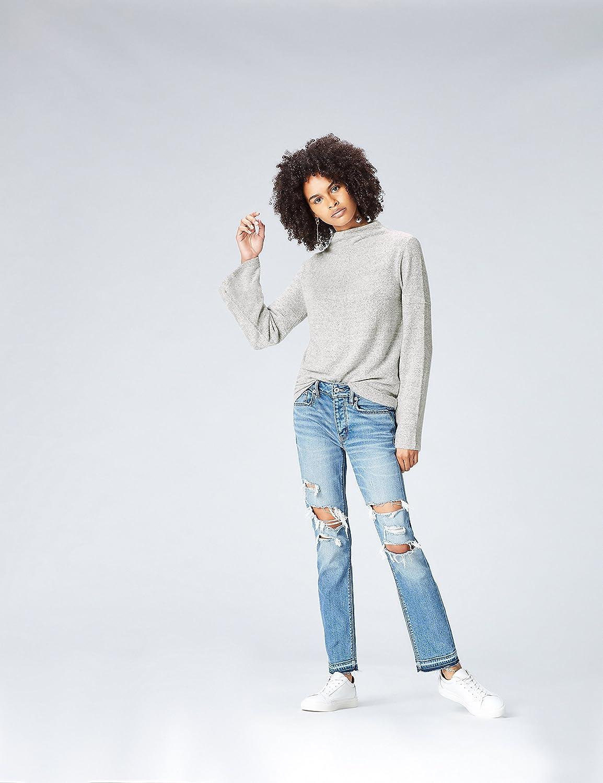 find Marke Pullover Damen meliert mit Stehkragen