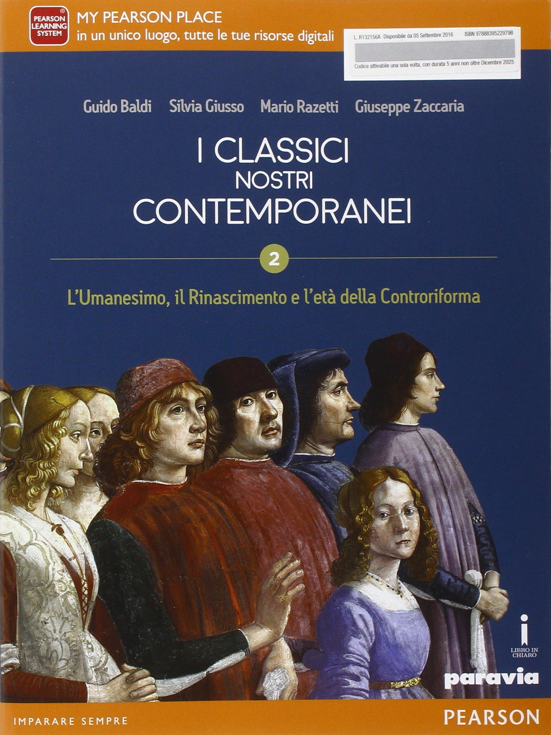 I classici nostri contemporanei 2, libro di letteratura per le scuole superiori