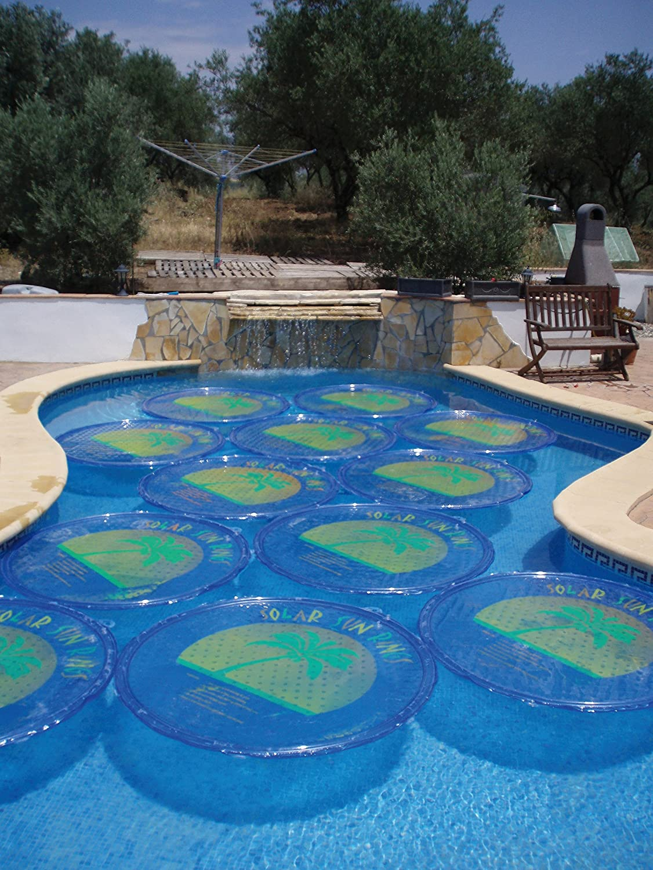 Amazon.com: Sun Anillo Palmera Round Solar Cover: Jardín y ...