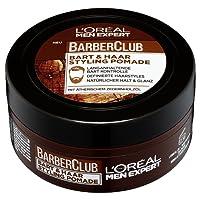 L'Oreal Men Expert Barber Club Bart- und Haar Styling Pomade, 24H Bartkontrolle und natürlicher Halt und Glanz für Bart und Haar, 75 ml