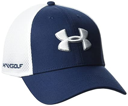 Amazon.com  Under Armour Men s Golf Mesh Stretch 2.0 Cap  Sports ... c4543624f72