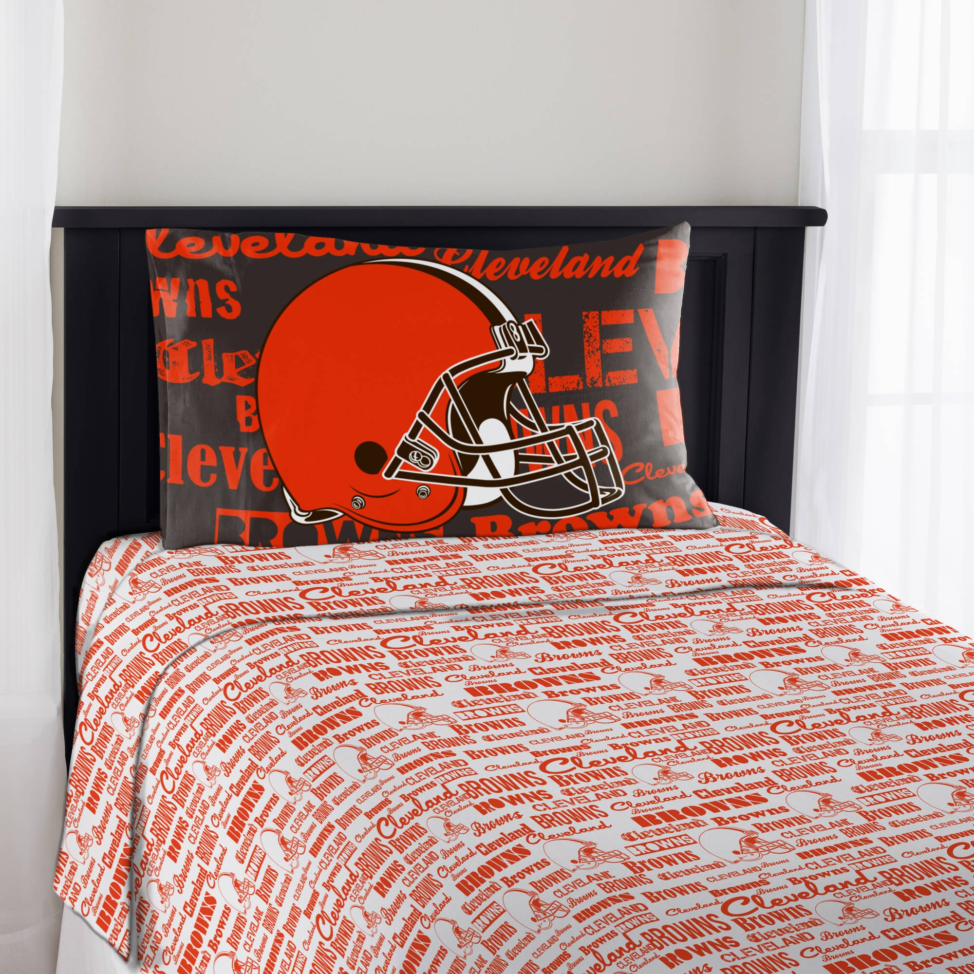 Northwest NFL Anthem Cleveland Browns Bedding Sheet Set: Full by Northwest