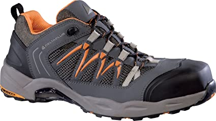 Delta plus calzado - Zapato piel nubuck+malla 3d gris/naranja talla 42