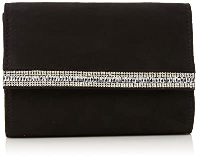 dd0b7704c377e Quiz Womens Diamante Clutch Bag Clutch Black (Black)  Amazon.co.uk ...
