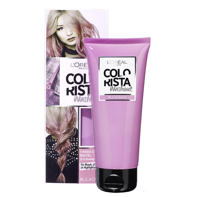 colorista washout 1 semaine couleur temporaire pour cheveux lilas - Coloration Rose Temporaire