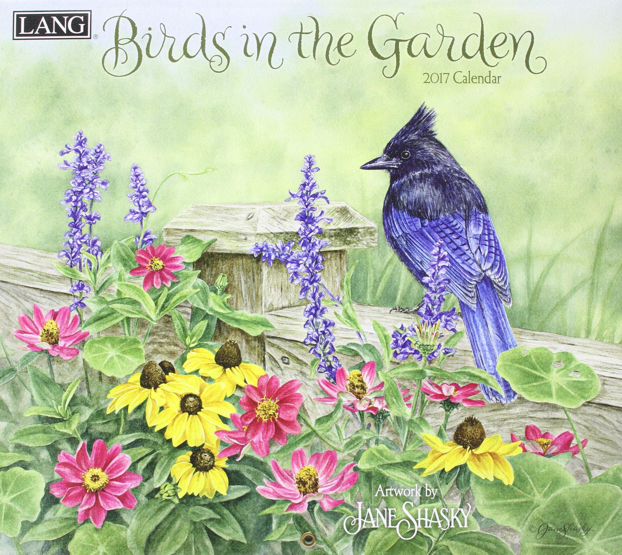 Birds In The Garden 2017 Calendar  Deluxe Wall