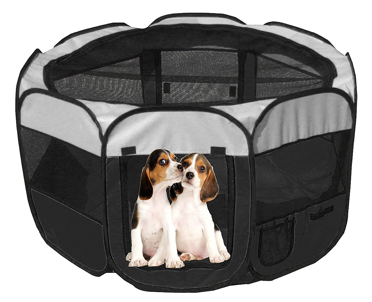 Amazon.com : PET LIFE \'All-Terrain\' Lightweight Easy Folding Wire ...