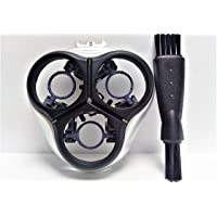 Titular de la Maquinilla de afeitar + Placa Shaver Para Philips Norelco Speed XL HQ8100 HQ8140 HQ8141 HQ8142 HQ8150 HQ8155 HQ8160 Razor Shaving Holder Cover Frame & Blade Plate Plata - Negro Nuevo