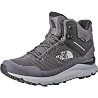 The North Face Men's Vals Mid Wp Trekking & Hiking Boots, Blackened Pearl/TNF Black, 11.5 US