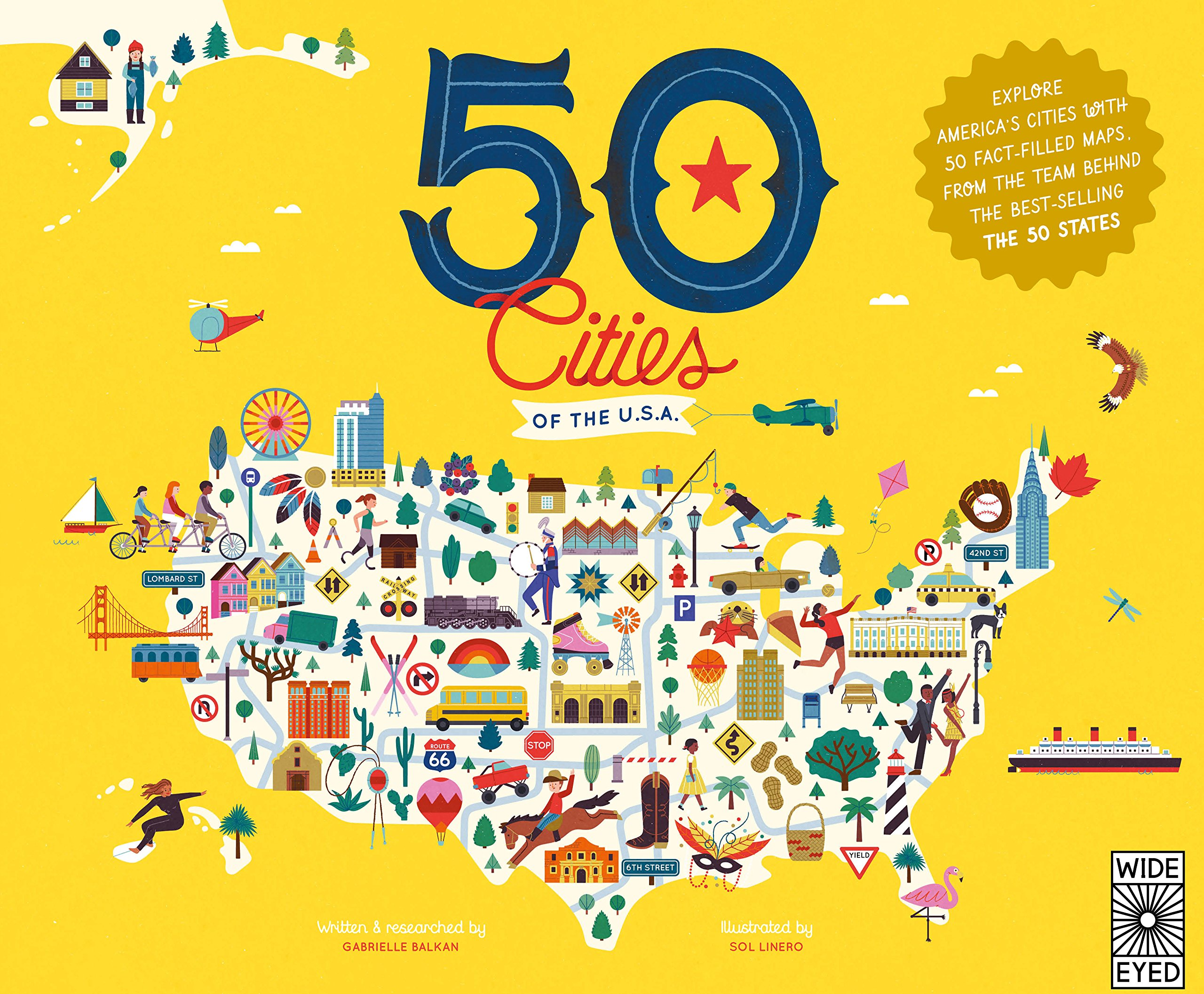 50 cities of the usa explore americas cities with 50 fact filled maps the 50 states gabrielle balkan sol linero 9781847808707 amazoncom books