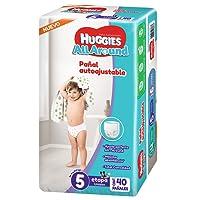 Huggies Pañales All Around, Unisex, Etapa 5, 40 Piezas