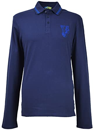 d95a8e81 Versace Jeans Men`s Big Logo Long Sleeves Polo Shirt ...
