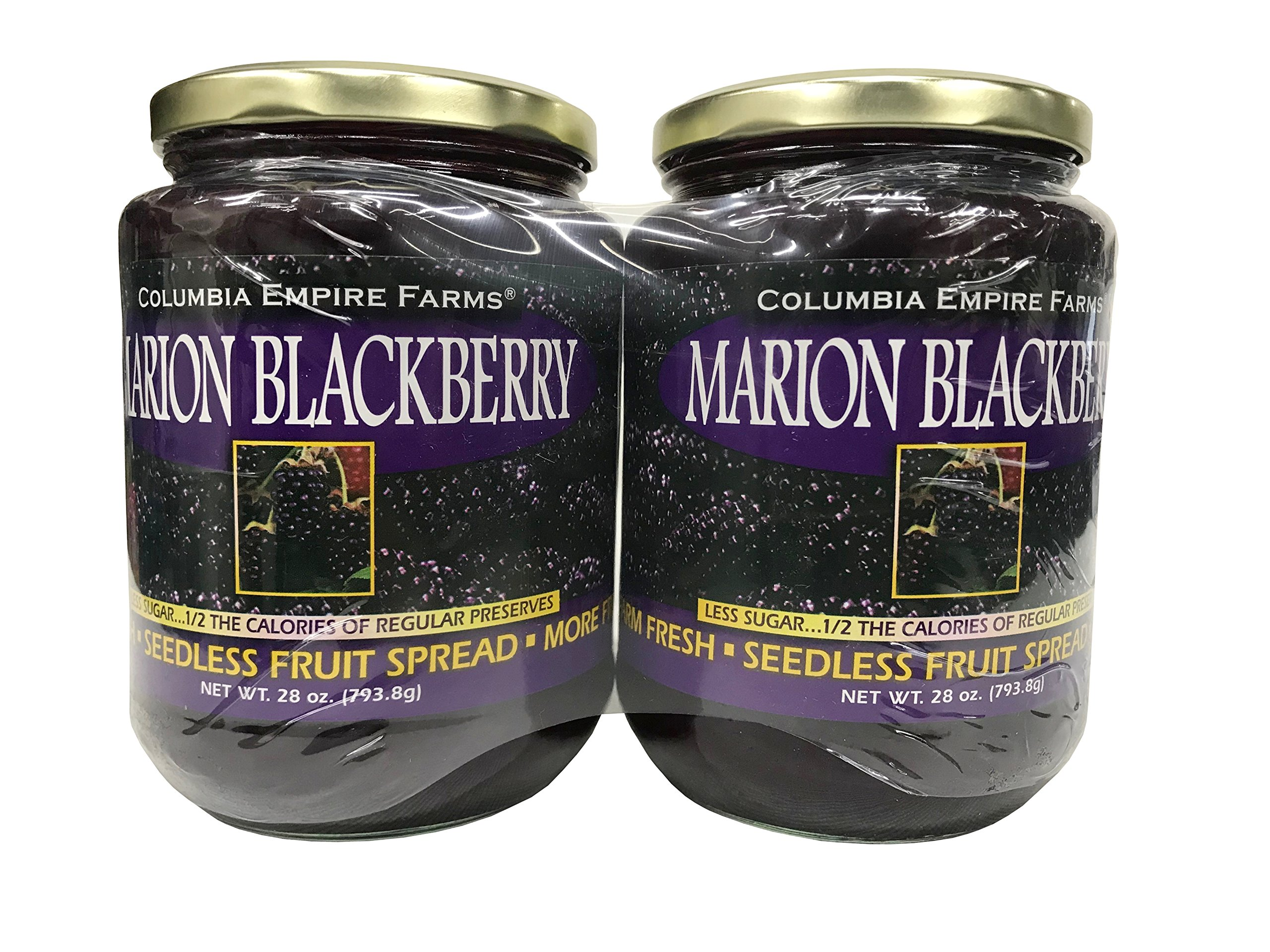 Columbia Empire Farms Marion Blackberry Seedless Fruit Spread 28 OZ 2 Pack