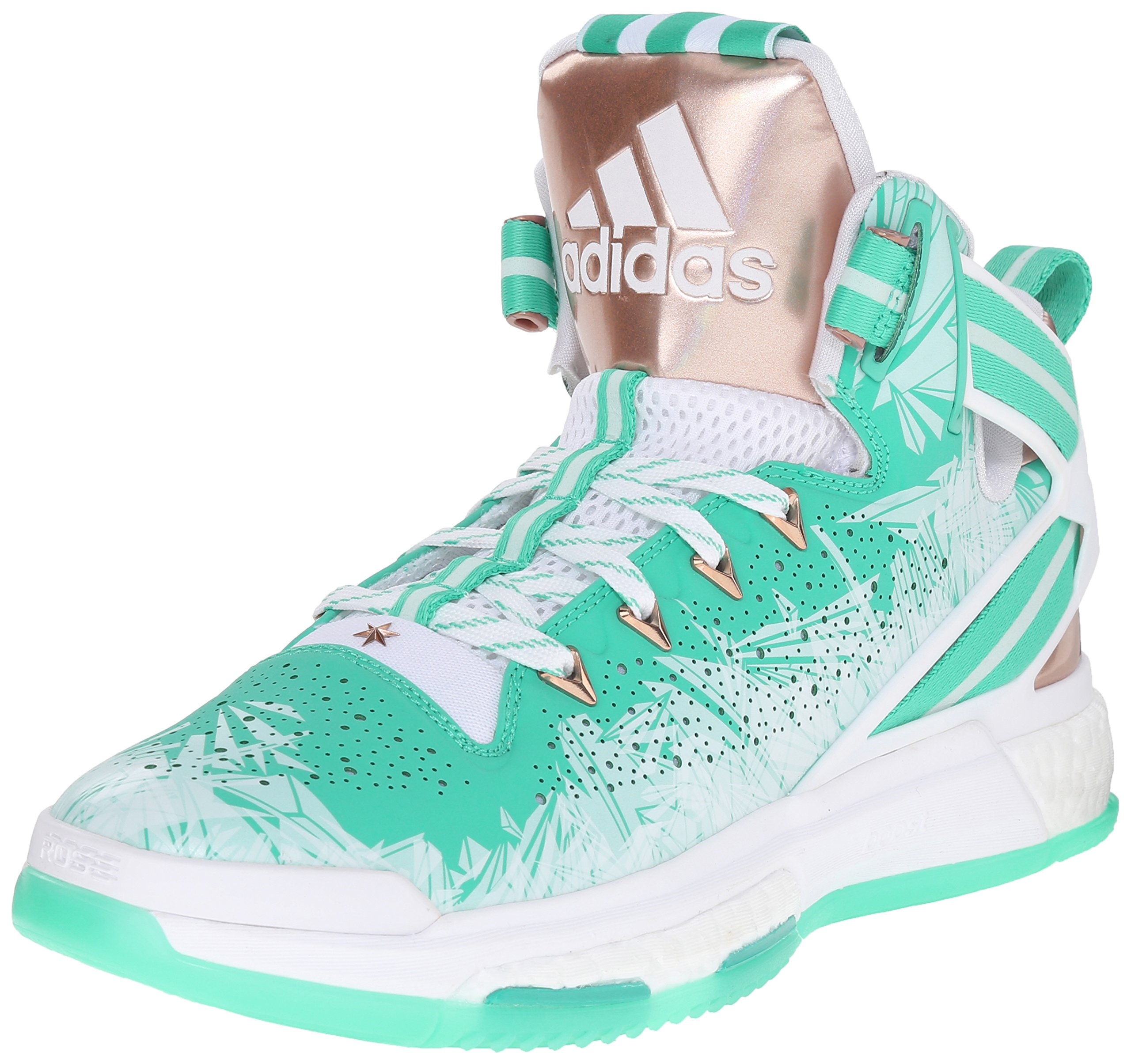 reputable site 639d3 d2b29 Galleon - Adidas Performance Mens D Rose 6 Boost Basketball,Shock  MintCopperWhite,10.5 M US
