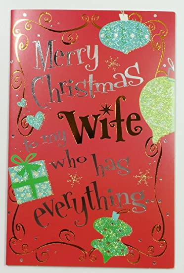 Amazon christmas cards for wife merry christmas to my wife christmas cards for wife quotmerry christmas to my wifequot m4hsunfo