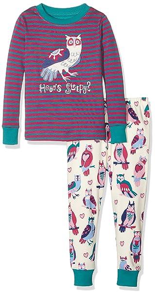 Hatley PJ (App) -Happy Owls, Pijama para Niños, Morado, 12