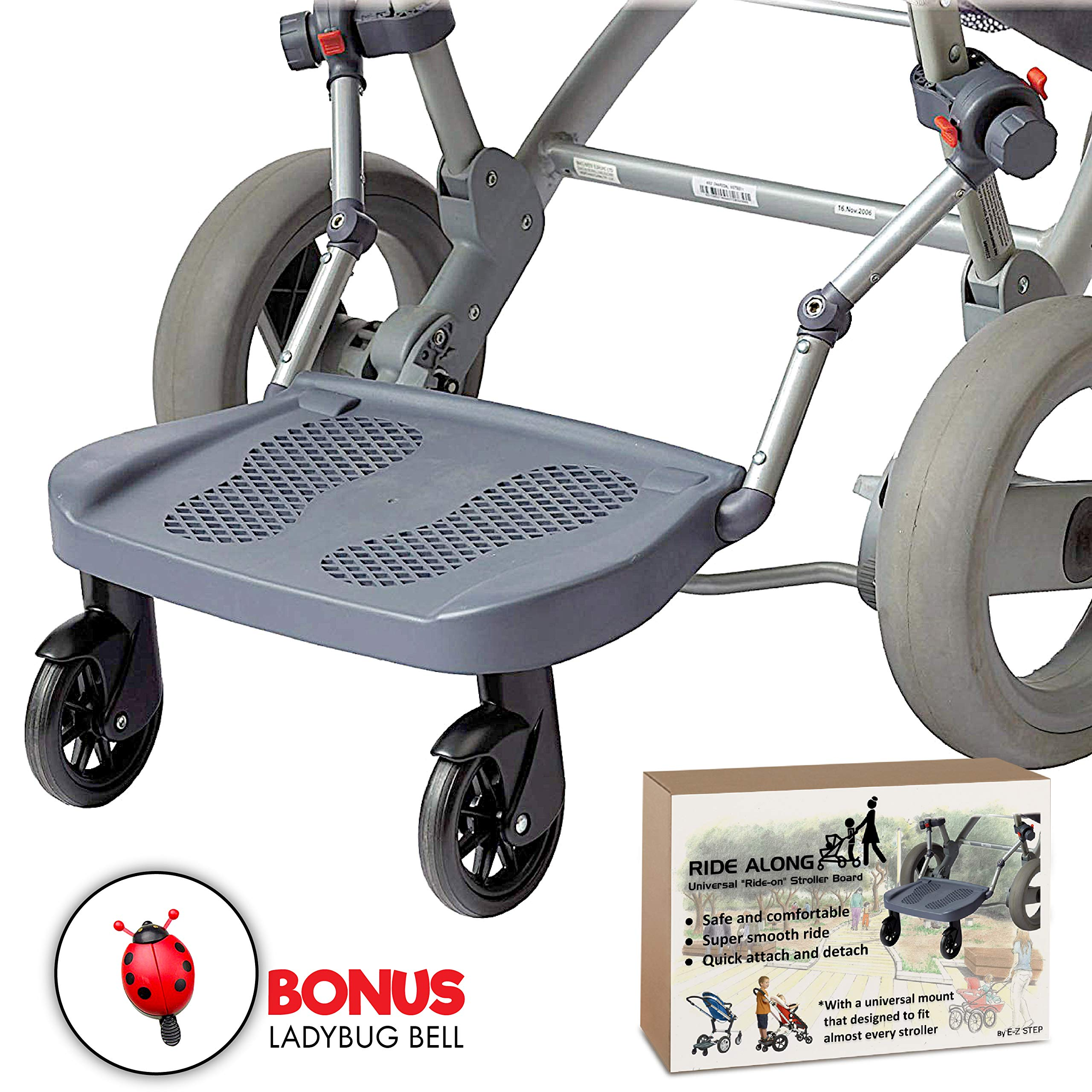 Ride Along - Universal Mount Ride-On Stroller Board Toddler Bump-Free Anti-Slip Buggy Stand by EZ step (Image #8)