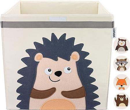 GLÜCKSWOLKE Caja Almacenaje Infantiles - Motivo Erizo I Baules Juguetes I Cubos Organizador (33x33x33) Cuarto de Niños I Contenedor Habitacion Niñas I Cesto Dormitorio Bebe: Amazon.es: Juguetes y juegos