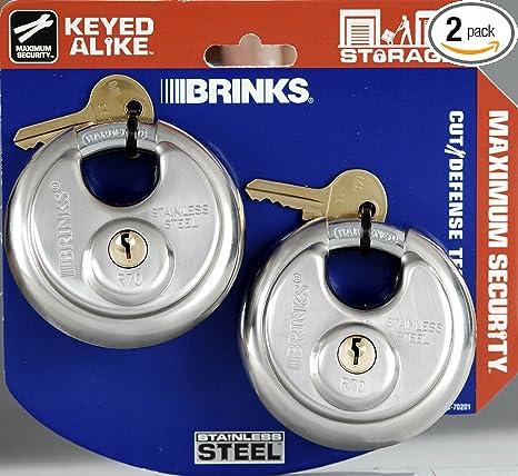 Amazon.com: Brinks 153 – 70201 acero inoxidable Grillete de ...