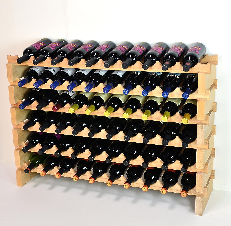 Wine Rack Wood 60 Bottles Modular Hardwood Wine Racks 10 Bottles X 6 Shelves Kitchen Dining
