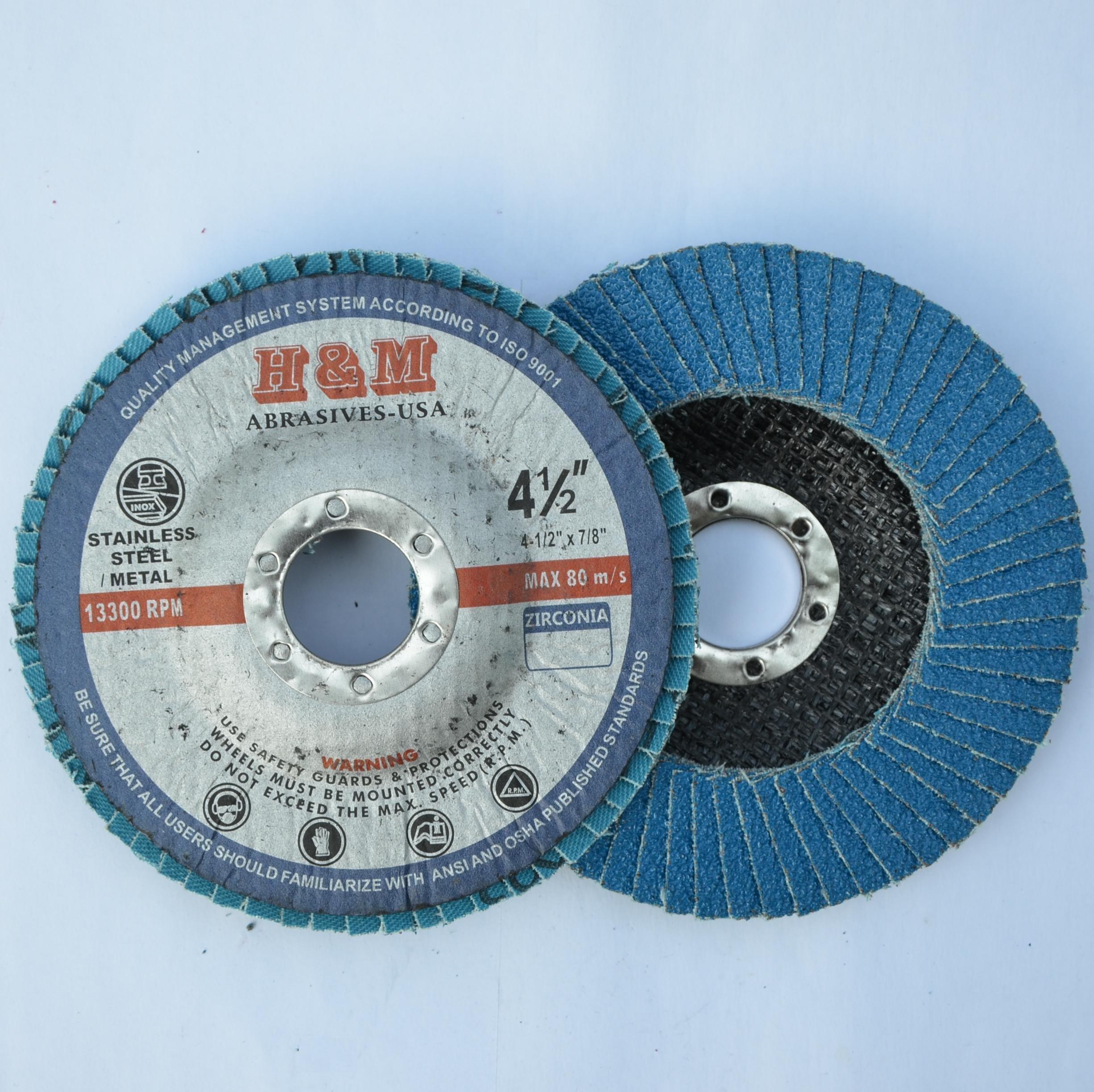 10pcs Premium FLAP DISCS 4-1/2'' x 7/8'' Zirconia 120 grit Grinding Wheel  - Type 27