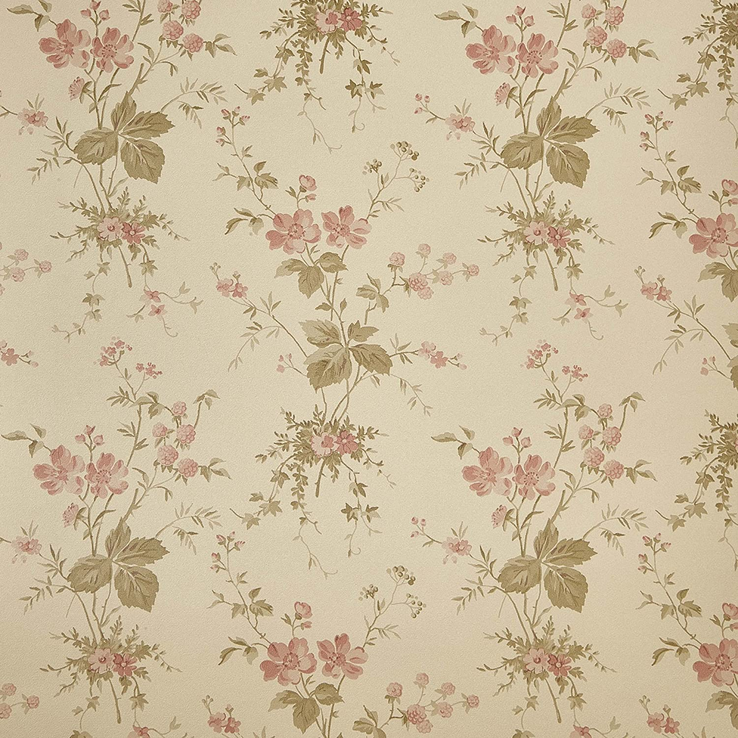 Press Floral Beige Wallpaper For Walls Double Roll By Romosa