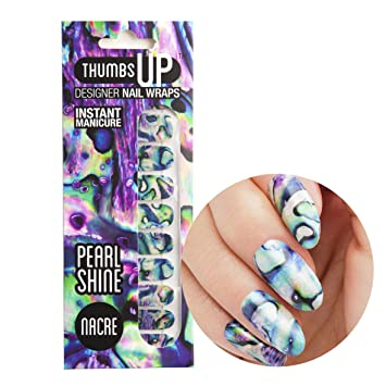 Thumbsup Nails Nacre Pearlescent Pearly Nail Wraps Self Adhesive