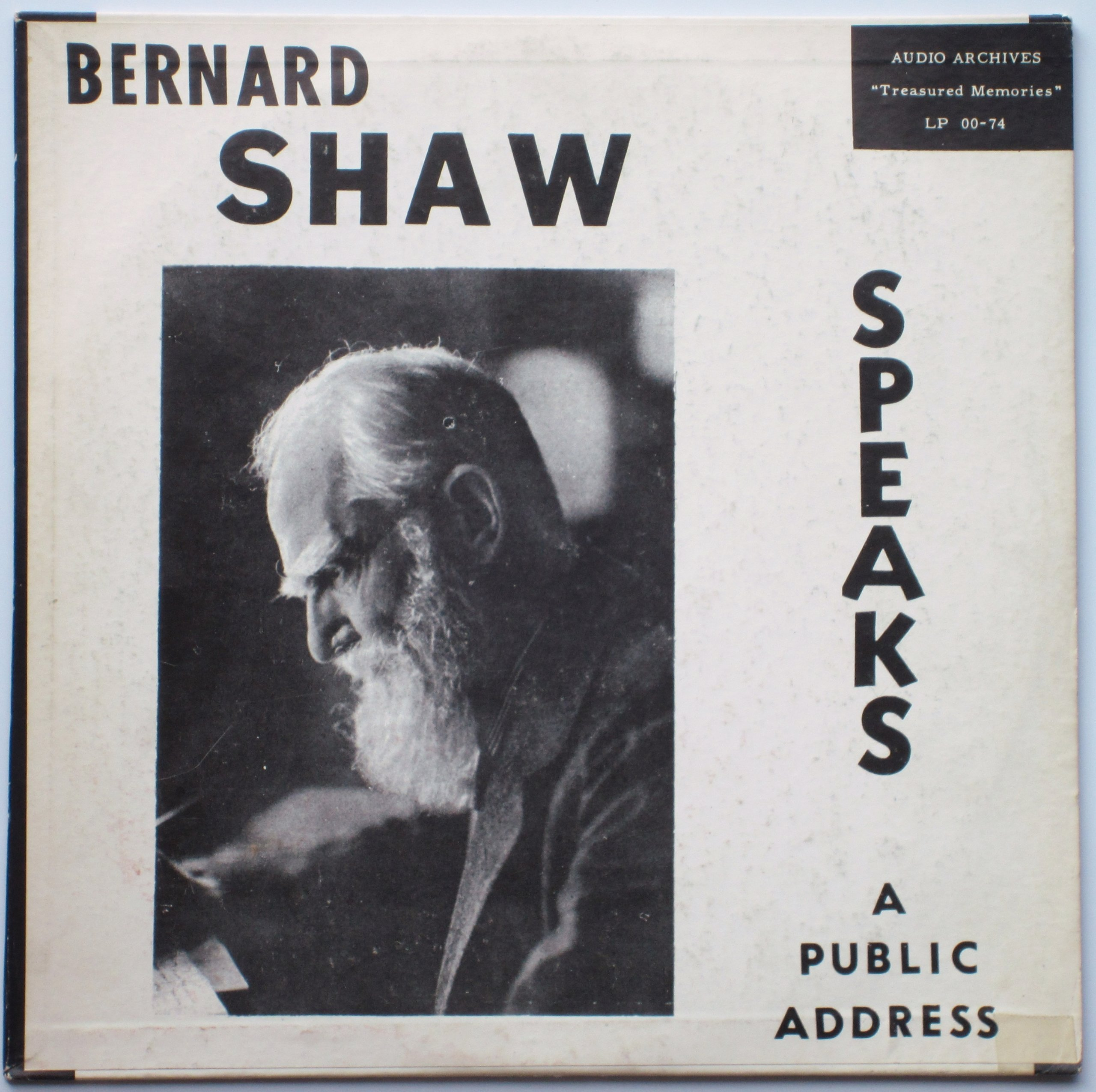 Bernard Shaw Speaks On War: A Public Address, 1937 ''Treasured Memories'' [10'' LP Record]