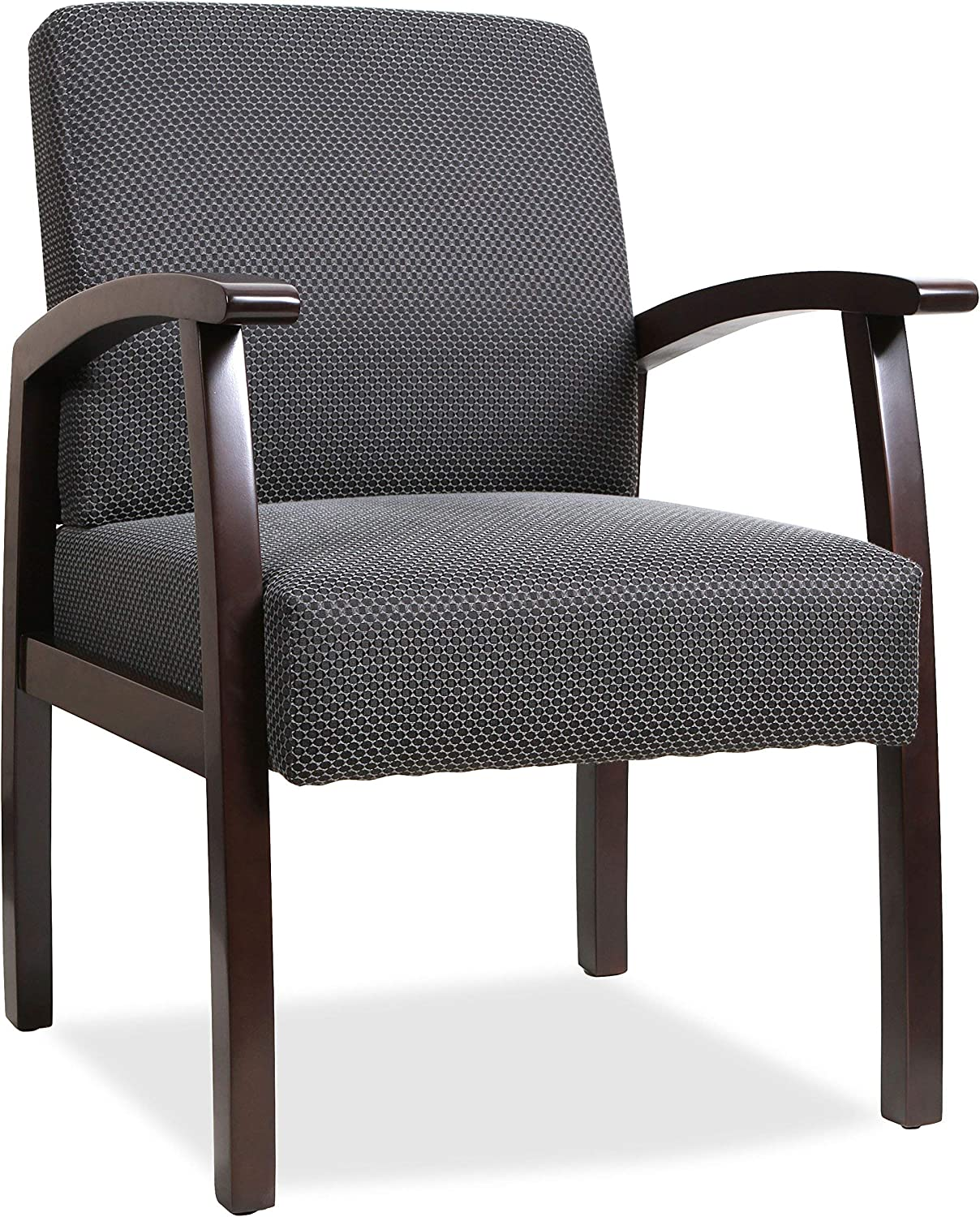 Renewed Lorell Guest Chairs Espresso//Charcoal 24 by 25 by 35-1//2-Inch