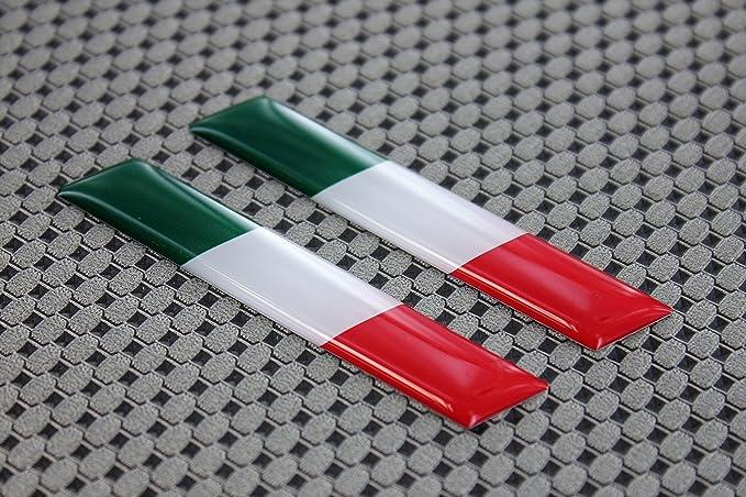 Set de pegatinas adhesivas de bandera de Italia para Ducati de diseño 3D combado, 7,6 x 1,27 cm: Amazon.es: Coche y moto