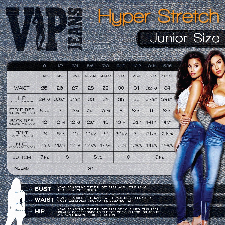 V.I.P.JEANS Womens High Waisted Skinny Jeans