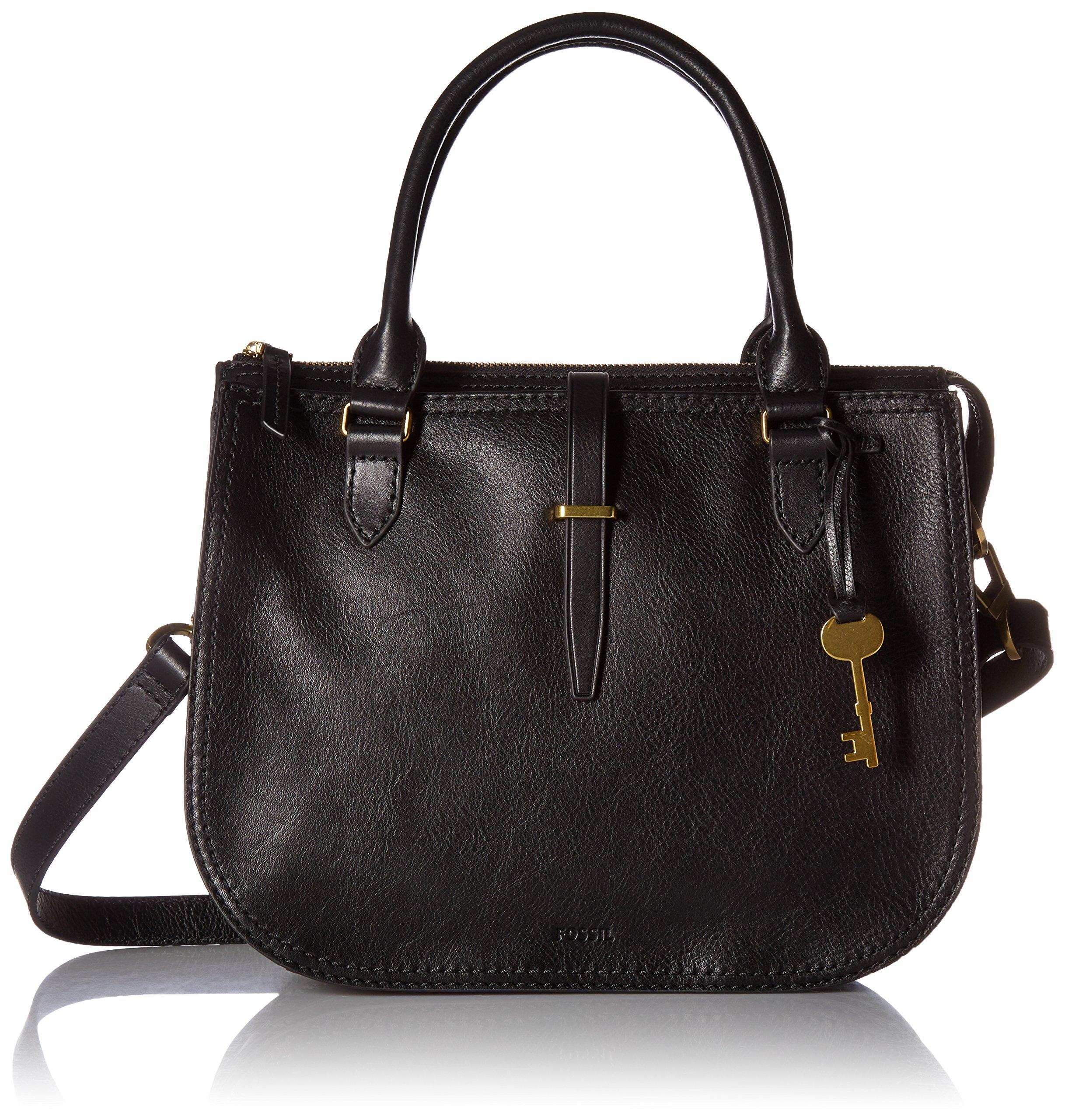 Fossil Ryder Satchel Handbag, Black