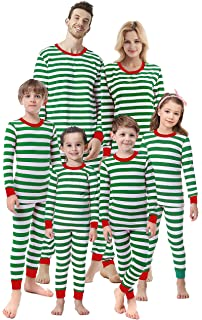 320eb54b78 Matching Family Christmas Boys Girls Pajamas Striped Kids Sleepwear Children  Clothes