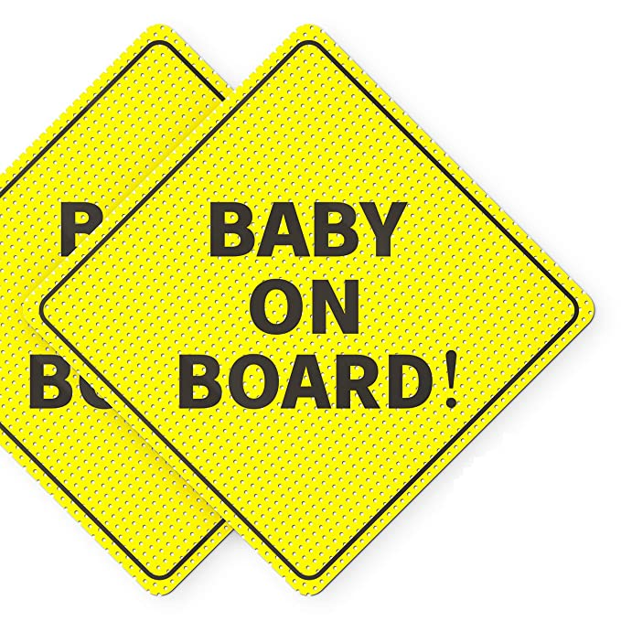 BABY ON BOARD Chicago Flag Edition 7.5 H Premium Vinyl Decal Sticker in White Promotes Safety and Road Awareness