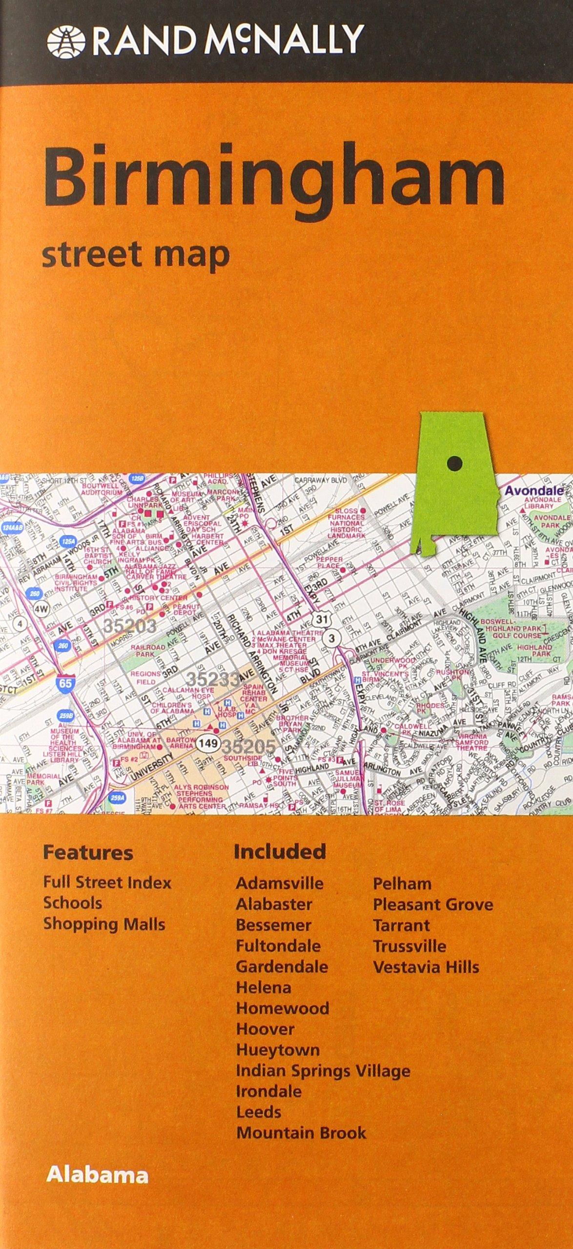Folded Map Birmingham Al Street product image