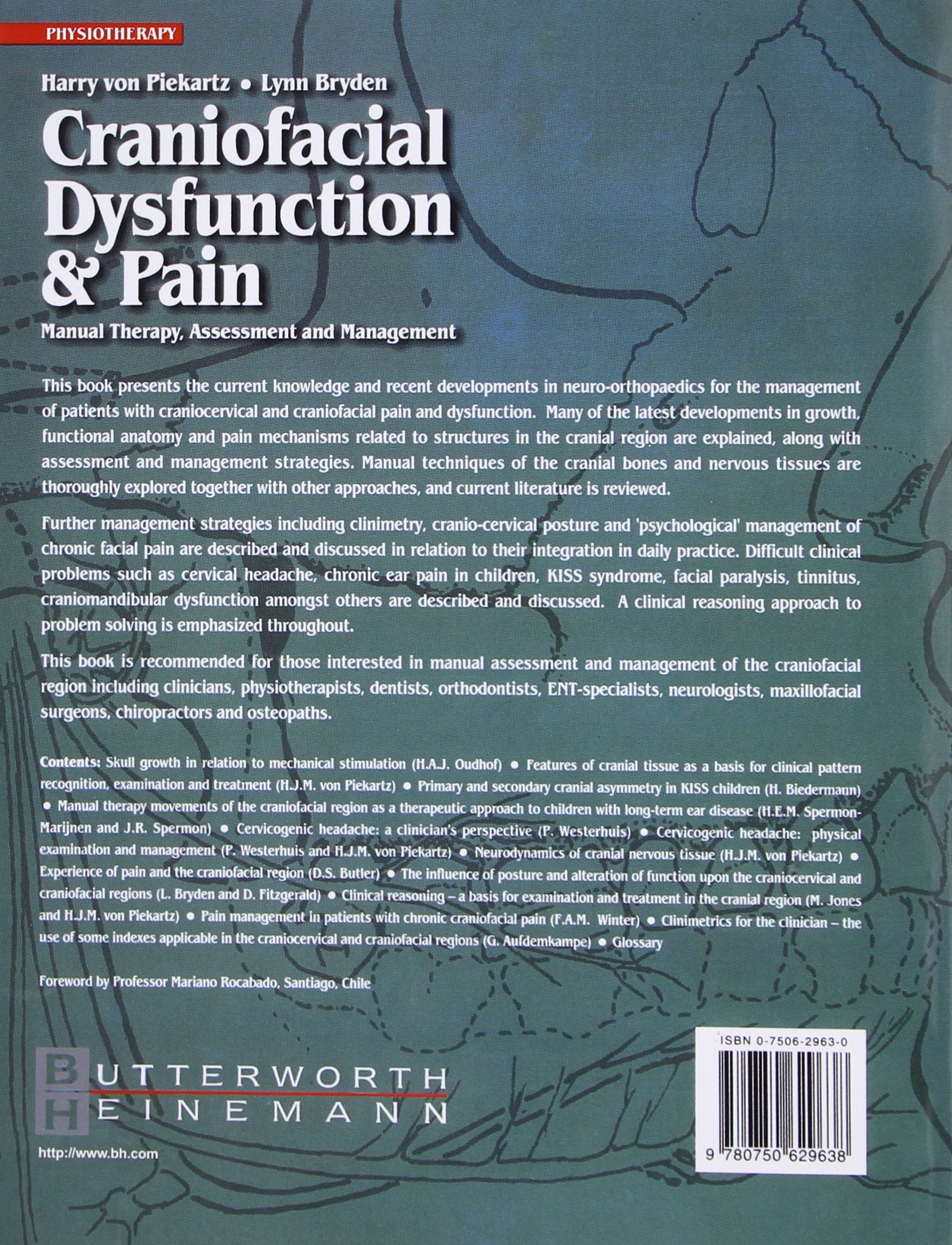 Craniofacial Dysfunction and Pain: Manual Therapy, Assessment and Management