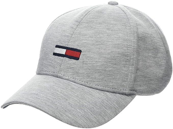 Tommy Hilfiger Tju Flag Cap, Gorra de béisbol para Hombre, Gris (Light Grey