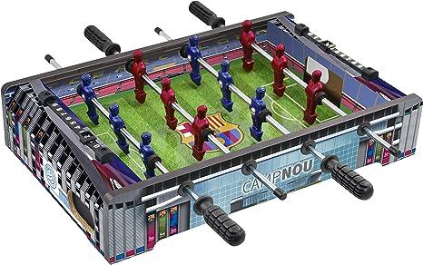 FCB FC Barcelona - Mini Futbolín Estadio Camp NOU, Multicolor (Proyectum Sport Team 10BAR-0000-1-2): Amazon.es: Juguetes y juegos