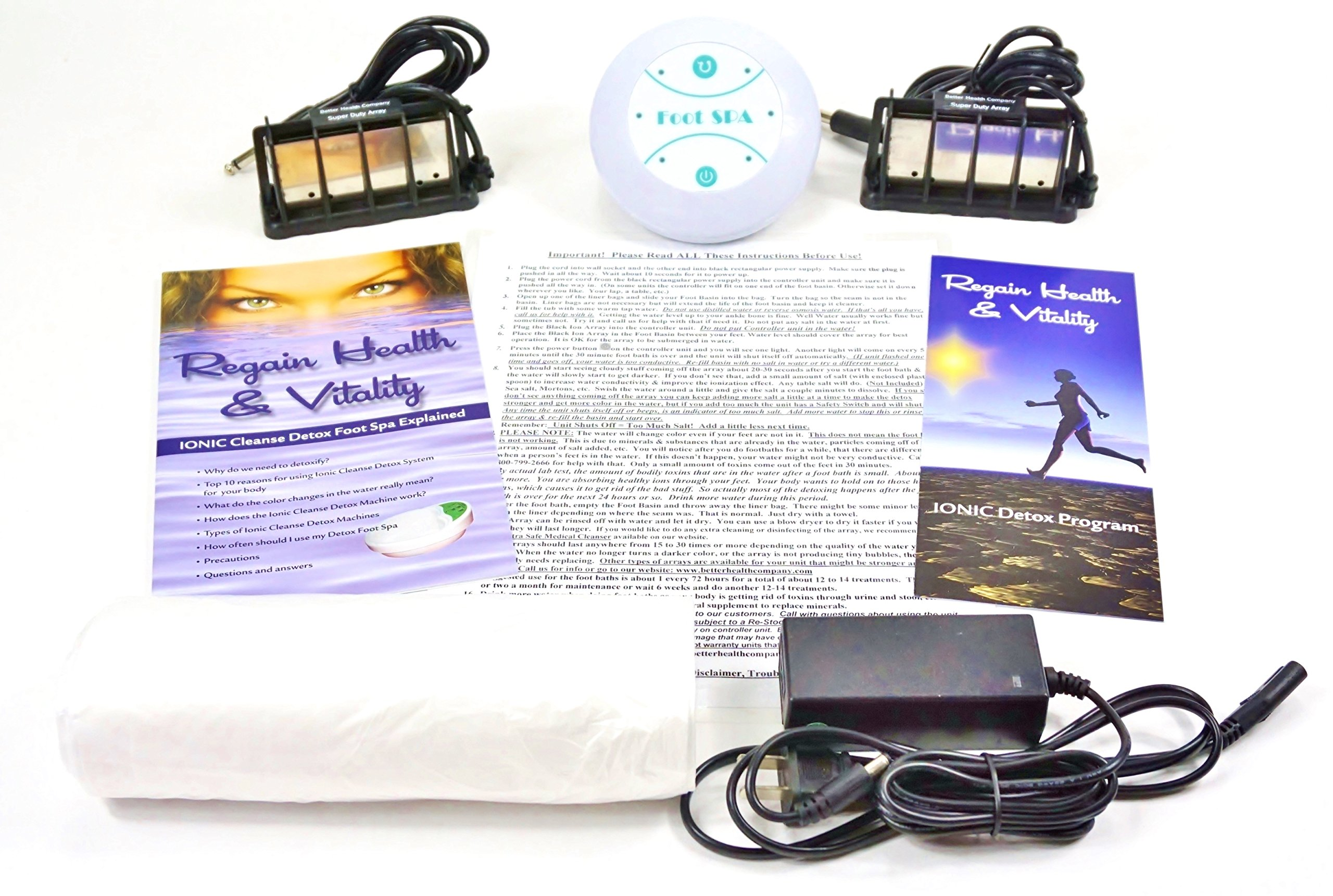 Ion Detox Ionic Detox Foot Bath Spa Chi Cleanse Unit for Home Use. WITH UPGRADED SUPER DUTY ARRAYS!
